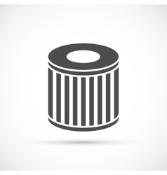 Car oil filter icon vector