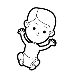Cartoon baby jesus sacred catholic image vector