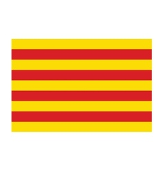 Catalonia flag vector image