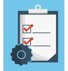 Check list document planner mark icon vector