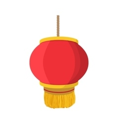Chinese lantern icon cartoon style vector
