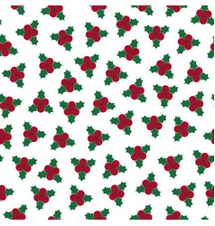 christmas seamless pattern - festive design vector image