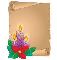 christmas thematic parchment 5 vector image