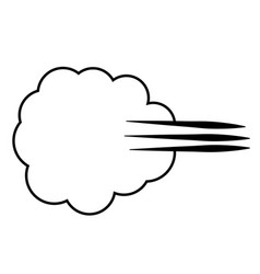 Cloud of gases farting flatulence a sign vector