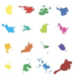 Colored blots seth blots on a white vector