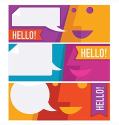 Communication banners vector