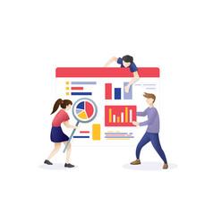 digital web marketing vector image