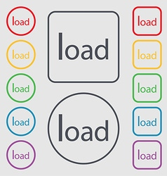 Download now icon Load symbol Symbols on the Round vector