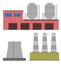 Factory industry manufactory buildings vector