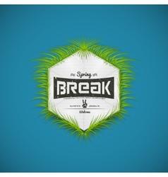 Festival spring break realistic badge vector