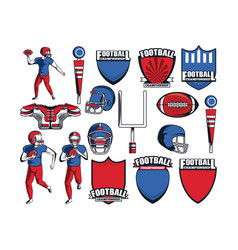 football elements icon vector image