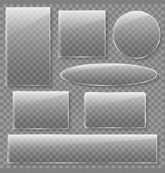 glass plates set square rectangle vector image