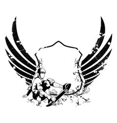 Grunge urban emblem vector