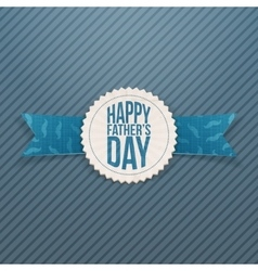 Happy Fathers Day festive Emblem with Ribbon vector