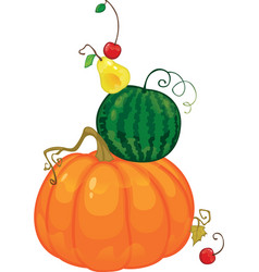 harvest fruit and berries isolated vector image