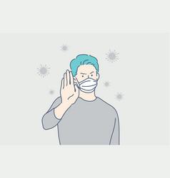 Health coronavirus ncov covid19 protection set vector
