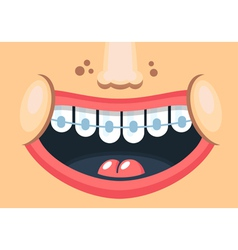 Healthy smile vector image