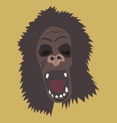 Horrible gorilla head vector