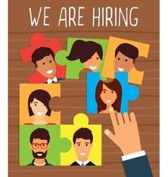 Human resources recruiting concept vector