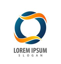 initial letter o wave logo concept design symbol vector image