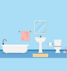 interior modern bathroom design and vector image