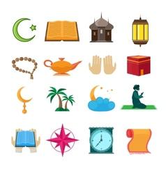 Islam icons set vector image