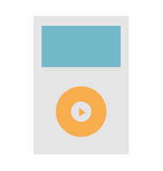Isolated ipod music vector