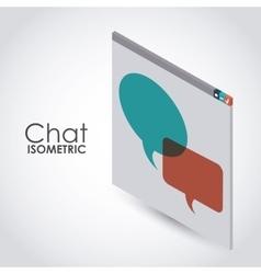 isometric chat icon design vector image