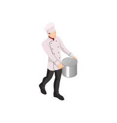 isometric male chef isolated on white chef vector image