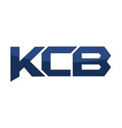letter kcb modern vector image
