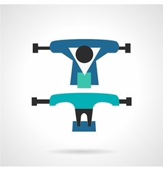 Longboard suspension flat icon vector image