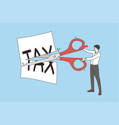 lower and cutting tax concept vector image