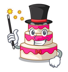 Magician wedding cake isolated with the mascot vector