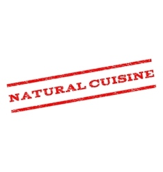 Natural Cuisine Watermark Stamp vector