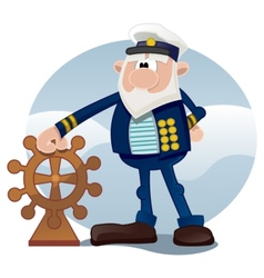 Old sailor vector image