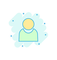 people communication icon in comic style people vector image