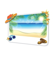 Picture of the sand beach landscape on white vector image