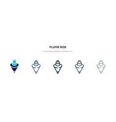 Plumb bob icon in different style two colored vector