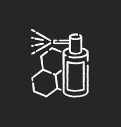 Propolis mouth spray chalk white icon on black vector