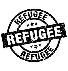 Refugee round grunge black stamp vector