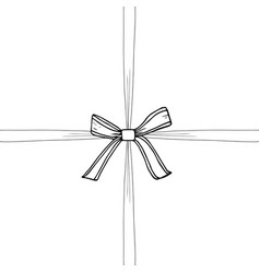 Ribbon and bow vector