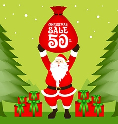 Santa Christmas Sale vector image