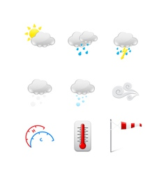 Set of Weather icons vector