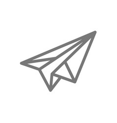 simple paper airplane line icon symbol and sign vector image