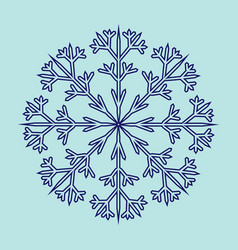 snowflake sign 2311 vector image