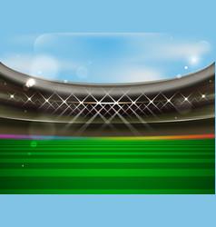 Soccer stadium banner football arena vector