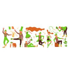 st patricks day horizontal banner template vector image