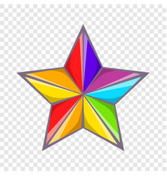 star in colours of lgbt icon cartoon style vector image