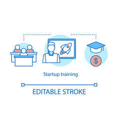Startup training concept icon vector