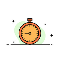 stopwatch clock fast quick time timer watch vector image